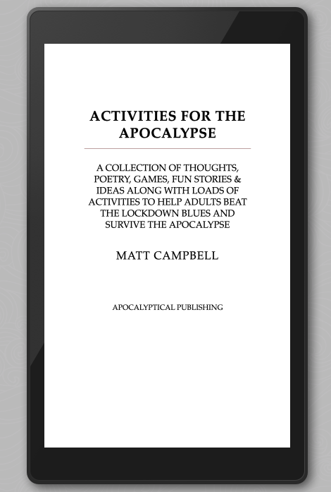 Activities For The Apocalypse Ebook Edition