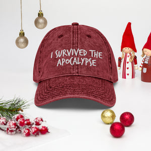 I Survived The Apocalypse Vintage Cotton Twill Cap