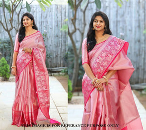 Orignal Banarasi Rani colour Silk Saree