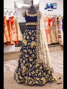 Avesome Navy Blue  Designer Embroidery Lehenga Choli