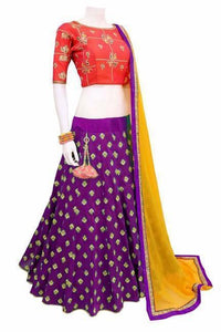 Awesome Purple Color Tapeta Silk Lehenga Choli