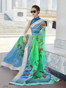 Mindblowing Multi  Color Designer silk Saree