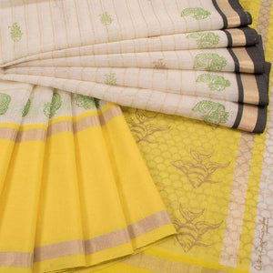 Lovely Multi color Linen Designer Saree