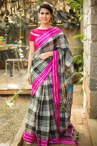 LINEN DESIGNER DIGITAL PRINT SAREE