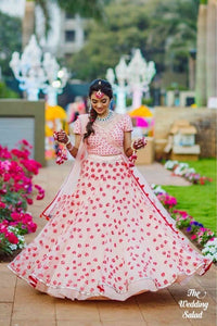Trendy Pink Color Embroidery Work Lehenga Choli