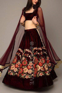 Beautiful Maroon Color Tapeta Silk Lehenga Choli