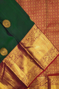 Exclusive Green and Golden Color Designer Saree