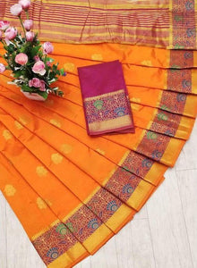Exclusive Orange Color Designer Saree