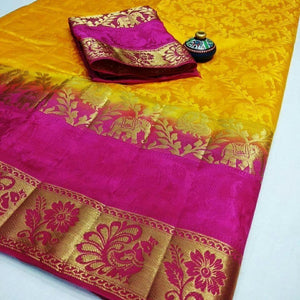 New look Yellow Color Designer Saree
