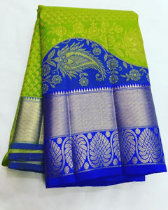 New look Parrot Color Designer Saree