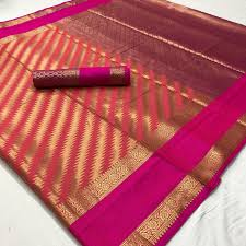 New look Red And Pink Color Designer Saree