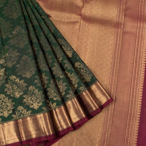 Trendy Green Color Designer Saree