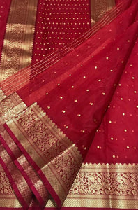 Trendy Red Color Designer Saree