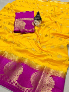New Launch Celebration Tussar Silk Saree With Peacock Butta K21