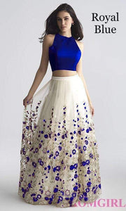 Adhesive Royal Blue And White Color Net Embroidery Work Lehenga Choli