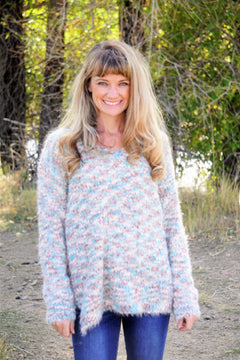 Sweet Cotton Candy Sweater - Mint