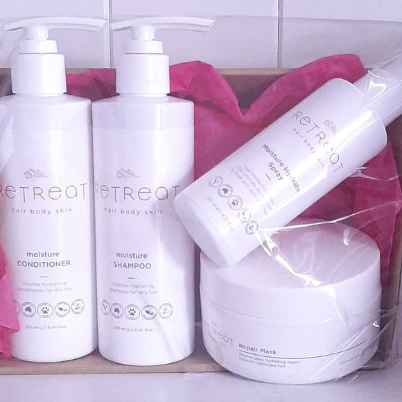 Hair care gift pack for dry hair