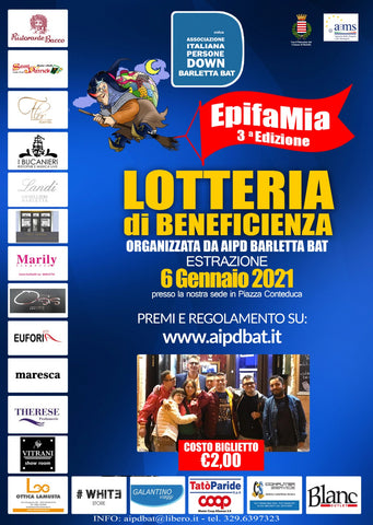 Lotteria di Beneficenza AIDP BAT - Blanc Outlet partner