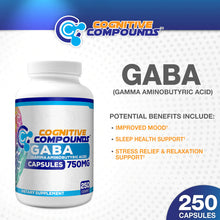 Load image into Gallery viewer, 가바 GABA (Gamma Aminobutyric Acid) 750mg, 250개입