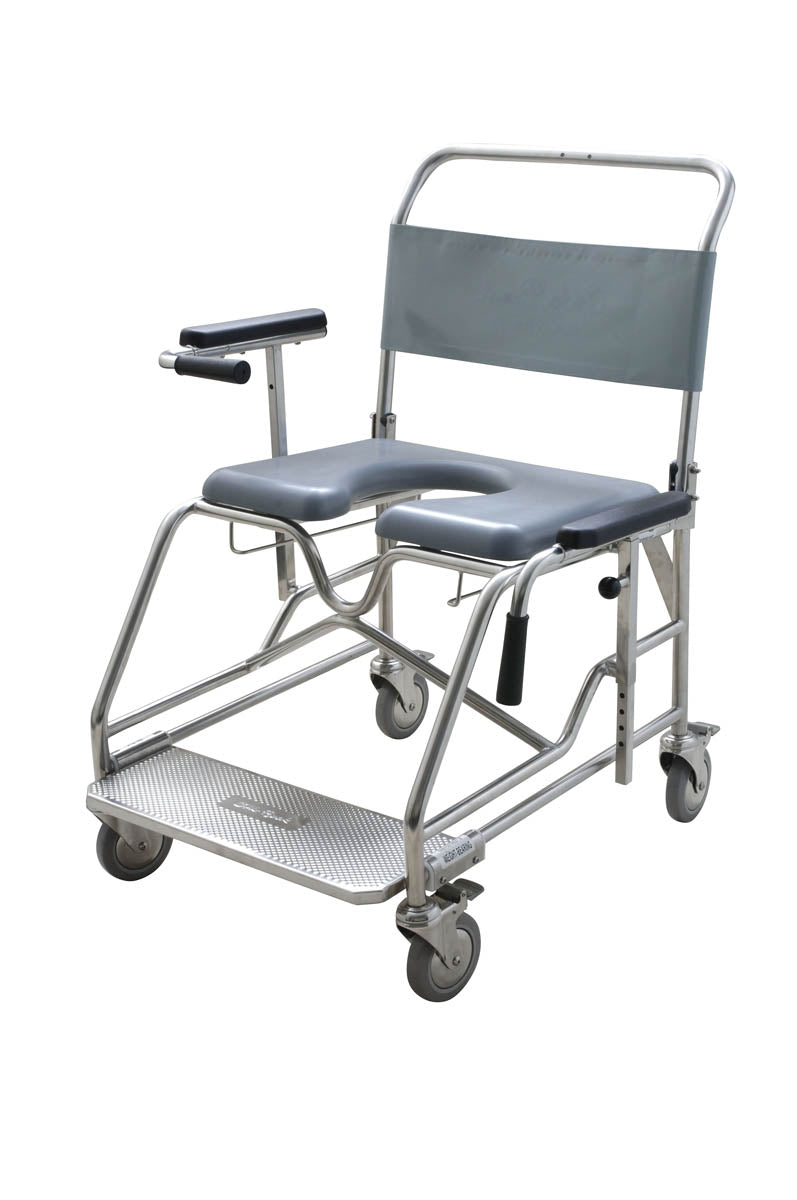 60cm BARIATRIC -WEIGHT BEARING-SAFETY ARMS COMMODE
