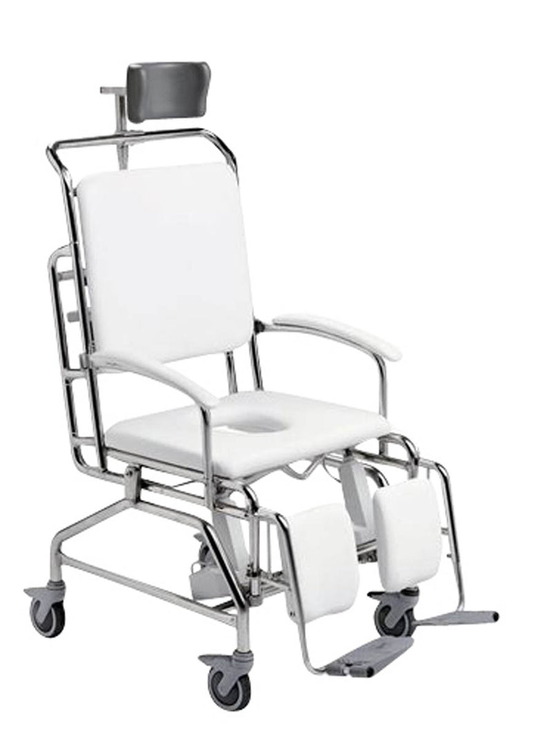 60cm BARIATRIC-FOOTPLATE MAXI TILT IN SPACE COMMODE