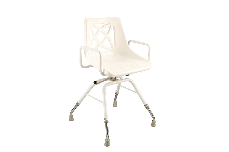 SHOWER CHAIR WITH SWIVEL ARMS