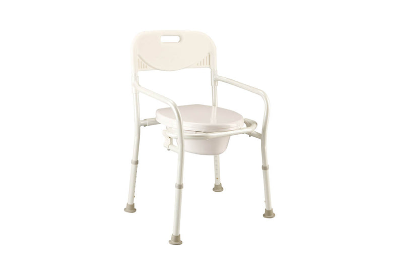 FOLDING BEDSIDE COMMODE