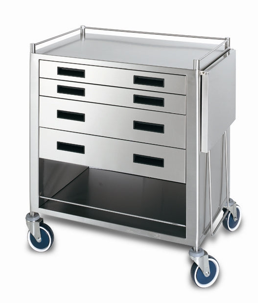 ENDOSCOPY TROLLEY DELUXE 4 DRAWER