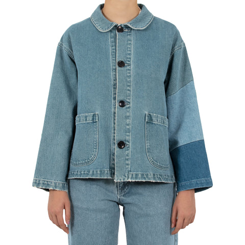 Tile Patch Chore Coat - Denim