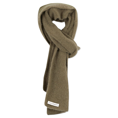 Recycled Cashmere Scarf - Mushroom Moss