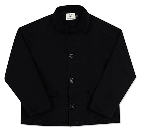 Corduroy Collar Chore Coat - Black Indigo