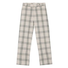 Trousers - Check Plaid