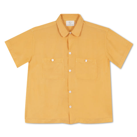 Silk Leisure Shirt - Chamomile Dyed