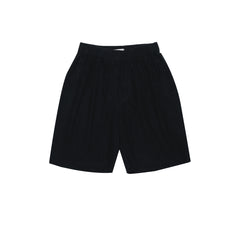 Silk Leisure Shorts - Black Indigo