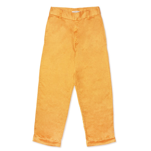 Silk Hemp Trousers - Saffron