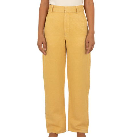 Silk Hemp Trousers - Chamomile Dyed
