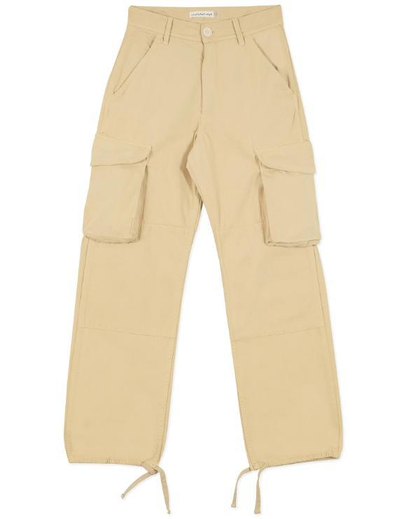 Silk/Hemp Trousers in Saffron