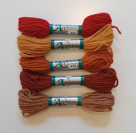 Dovecot Studios | Appletons Tapestry Wool Set of 5: Autumn