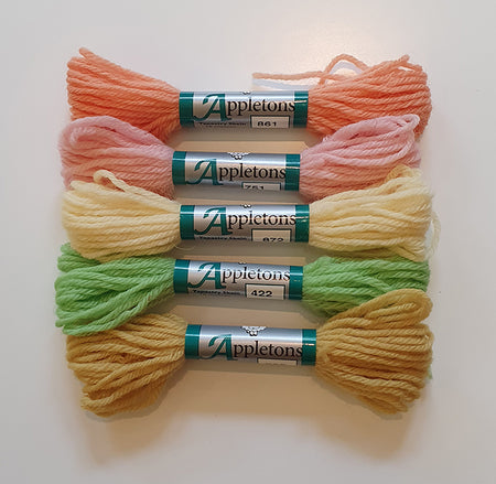 Dovecot Studios | Appletons Tapestry Wool Set of 5: Spring