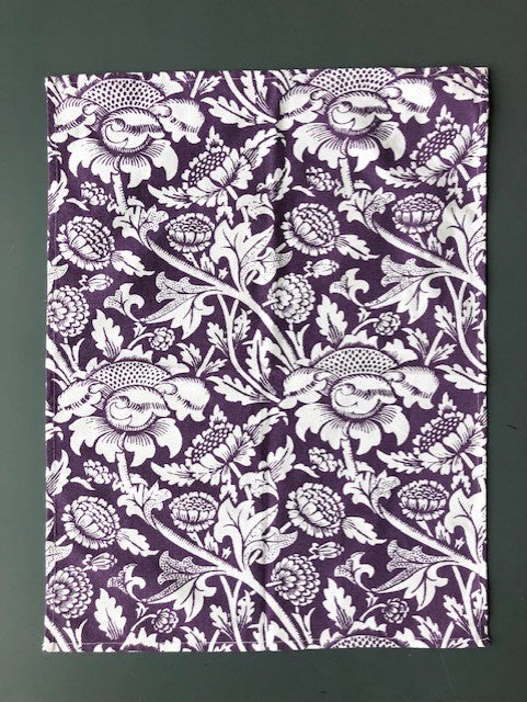 Passenger Press Tea Towel: William Morris 'Wey' (Purple)
