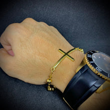 Load image into Gallery viewer, Oratio Imperata Gold Rosary Bracelet