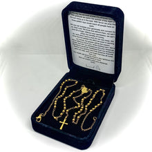 Load image into Gallery viewer, Gold Rosary Necklace For Wealth And Abundance