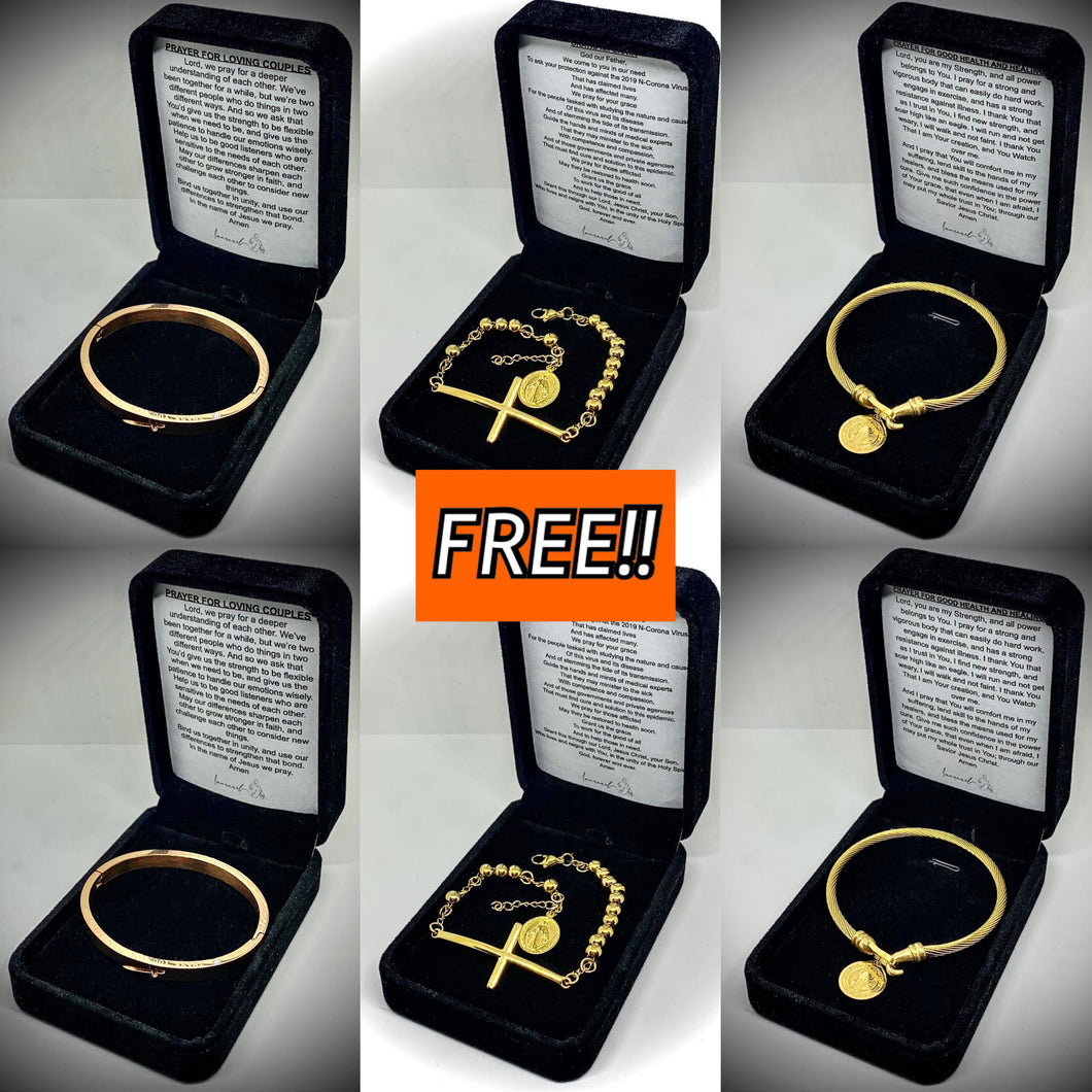 Buy 2 Couple's Bracelet and 2 St. Benedict Bracelet For Good Health And Healing GET 2 FREE Oratio Imperata Bracelet!