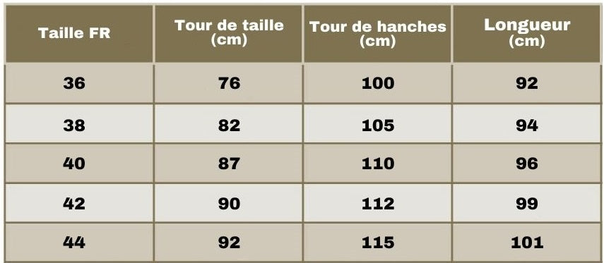 guide taille pantalon cargo rouge