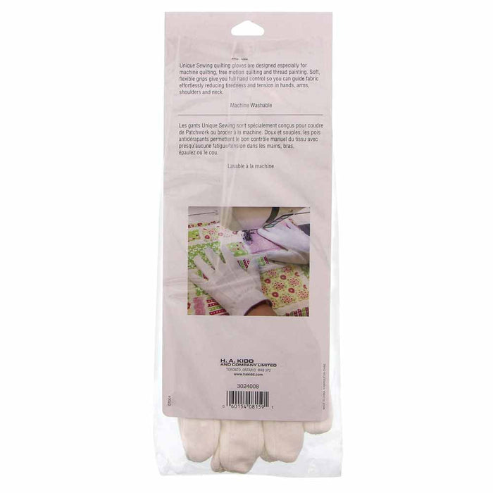 Quilting Grip Gloves Large White