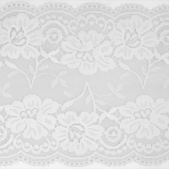 Stretch lace Trims - 6 inches - White