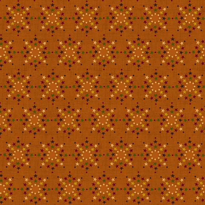 HENRY GLASS & CO INC - Cotton prints - WELCOME WAGON - Stars - orange