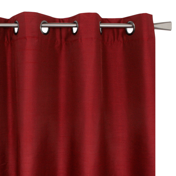 Blackout grommet panel - Britney - Red - 54 x 95''