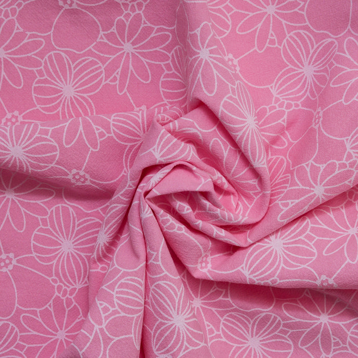 Cotton Lacquer Print - Pink