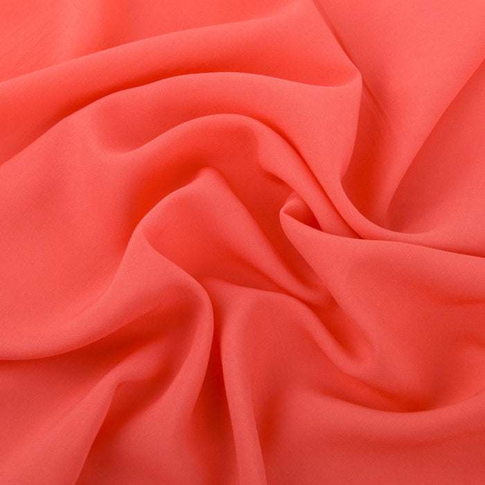 LORELLE Rayon Voile Solid - Coral